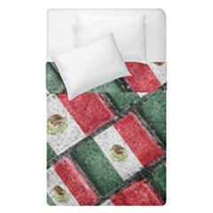 Mexican Flag Pattern Design Duvet Cover Double Side (single Size)