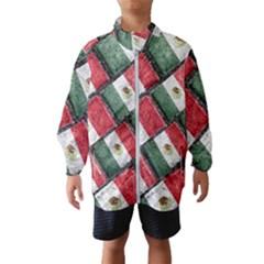 Mexican Flag Pattern Design Wind Breaker (kids)