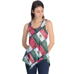 Mexican Flag Pattern Design Sleeveless Tunic