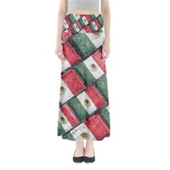 Mexican Flag Pattern Design Full Length Maxi Skirt