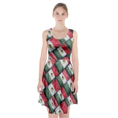 Mexican Flag Pattern Design Racerback Midi Dress