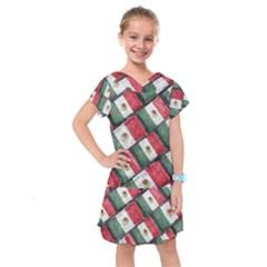Mexican Flag Pattern Design Kids  Drop Waist Dress