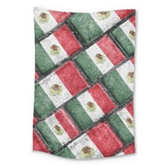 Mexican Flag Pattern Design Large Tapestry