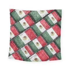 Mexican Flag Pattern Design Square Tapestry (small)