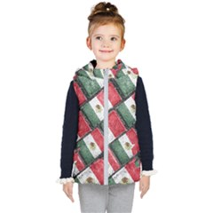 Mexican Flag Pattern Design Kid s Puffer Vest