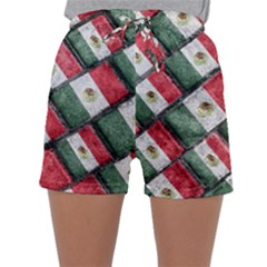 Mexican Flag Pattern Design Sleepwear Shorts