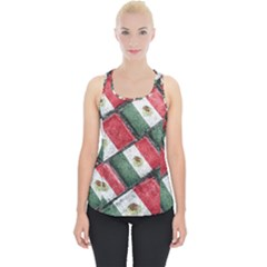 Mexican Flag Pattern Design Piece Up Tank Top