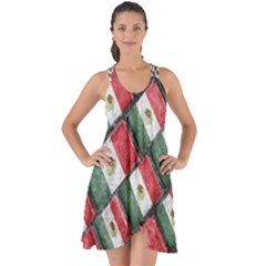 Mexican Flag Pattern Design Show Some Back Chiffon Dress