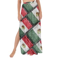Mexican Flag Pattern Design Maxi Chiffon Tie Up Sarong