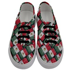 Mexican Flag Pattern Design Men s Classic Low Top Sneakers