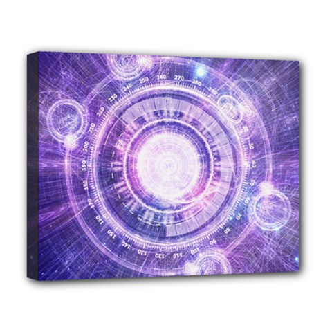 Blue Fractal Alchemy Hud For Bending Hyperspace Deluxe Canvas 20  X 16