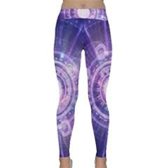 Blue Fractal Alchemy Hud For Bending Hyperspace Classic Yoga Leggings