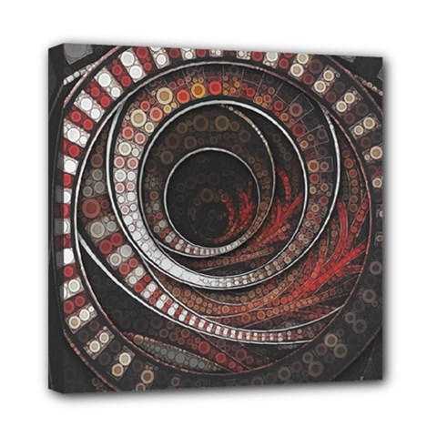 The Thousand And One Rings Of The Fractal Circus Mini Canvas 8  X 8