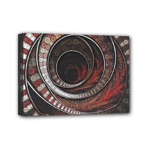 The Thousand And One Rings Of The Fractal Circus Mini Canvas 7  X 5