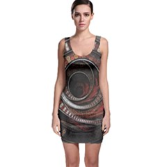 The Thousand And One Rings Of The Fractal Circus Bodycon Dress