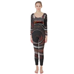 The Thousand And One Rings Of The Fractal Circus Long Sleeve Catsuit