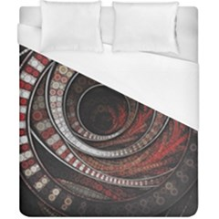 The Thousand And One Rings Of The Fractal Circus Duvet Cover (california King Size)