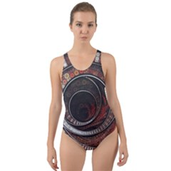 The Thousand And One Rings Of The Fractal Circus Cut Out Back One Piece Swimsuit