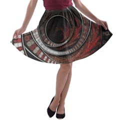 The Thousand And One Rings Of The Fractal Circus A Line Skater Skirt