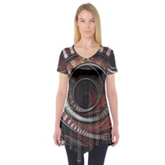 The Thousand And One Rings Of The Fractal Circus Short Sleeve Tunic