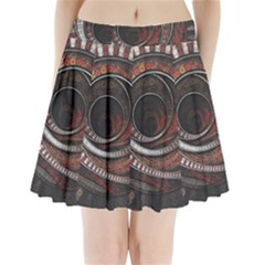 The Thousand And One Rings Of The Fractal Circus Pleated Mini Skirt