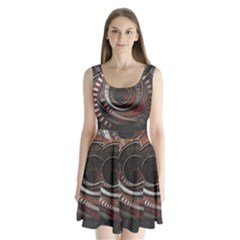The Thousand And One Rings Of The Fractal Circus Split Back Mini Dress