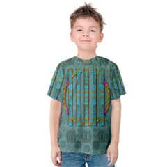 Freedom Is Every Where Just Love It Pop Art Kids  Cotton Tee