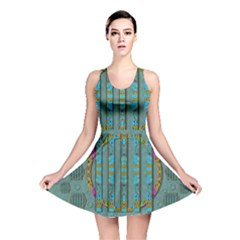 Freedom Is Every Where Just Love It Pop Art Reversible Skater Dress