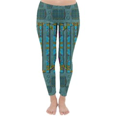 Freedom Is Every Where Just Love It Pop Art Classic Winter Leggings
