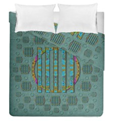 Freedom Is Every Where Just Love It Pop Art Duvet Cover Double Side (queen Size)