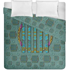 Freedom Is Every Where Just Love It Pop Art Duvet Cover Double Side (king Size)