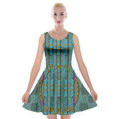 Freedom Is Every Where Just Love It Pop Art Velvet Skater Dress