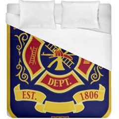 Fire Department Icon Duvet Cover (king Size)