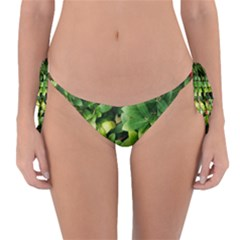 Christmas Season Floral Green Red Skimmia Flower Reversible Bikini Bottom