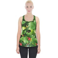 Christmas Season Floral Green Red Skimmia Flower Piece Up Tank Top