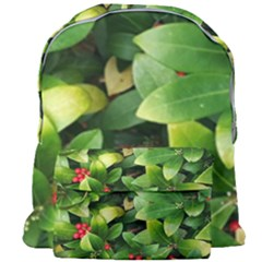 Christmas Season Floral Green Red Skimmia Flower Giant Full Print Backpack