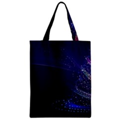 Christmas Tree Blue Stars Starry Night Lights Festive Elegant Classic Tote Bag