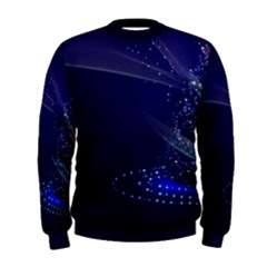 Christmas Tree Blue Stars Starry Night Lights Festive Elegant Men s Sweatshirt