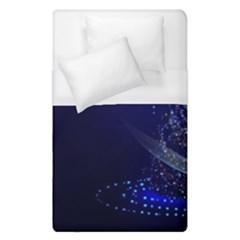 Christmas Tree Blue Stars Starry Night Lights Festive Elegant Duvet Cover (single Size)
