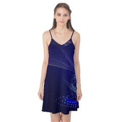 Christmas Tree Blue Stars Starry Night Lights Festive Elegant Camis Nightgown