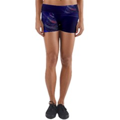 Christmas Tree Blue Stars Starry Night Lights Festive Elegant Yoga Shorts