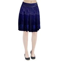 Christmas Tree Blue Stars Starry Night Lights Festive Elegant Pleated Skirt