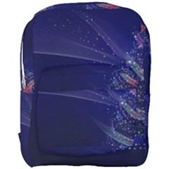 Christmas Tree Blue Stars Starry Night Lights Festive Elegant Full Print Backpack