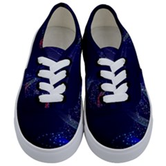 Christmas Tree Blue Stars Starry Night Lights Festive Elegant Kids  Classic Low Top Sneakers