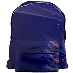 Christmas Tree Blue Stars Starry Night Lights Festive Elegant Giant Full Print Backpack