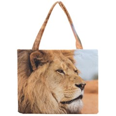 Big Male Lion Looking Right Mini Tote Bag
