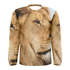 Big Male Lion Looking Right Men s Long Sleeve Tee