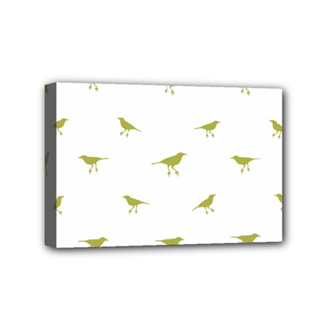 Birds Motif Pattern Mini Canvas 6  X 4