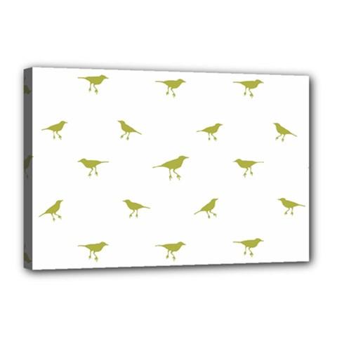 Birds Motif Pattern Canvas 18  X 12