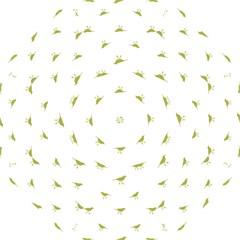 Birds Motif Pattern Folding Umbrellas